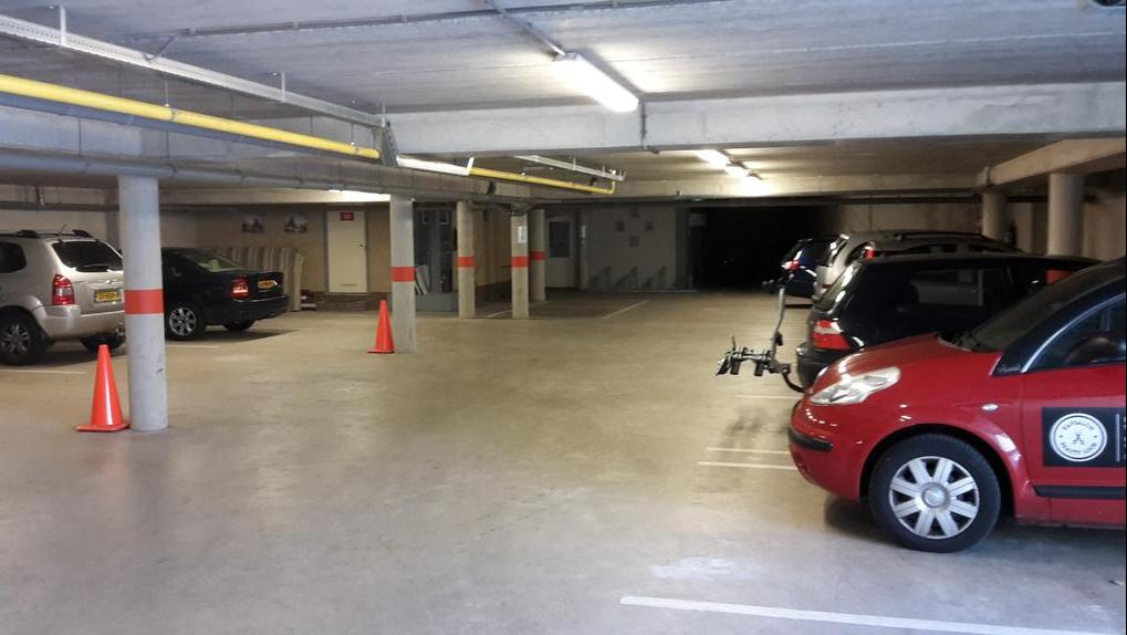Parking in our own parking garage