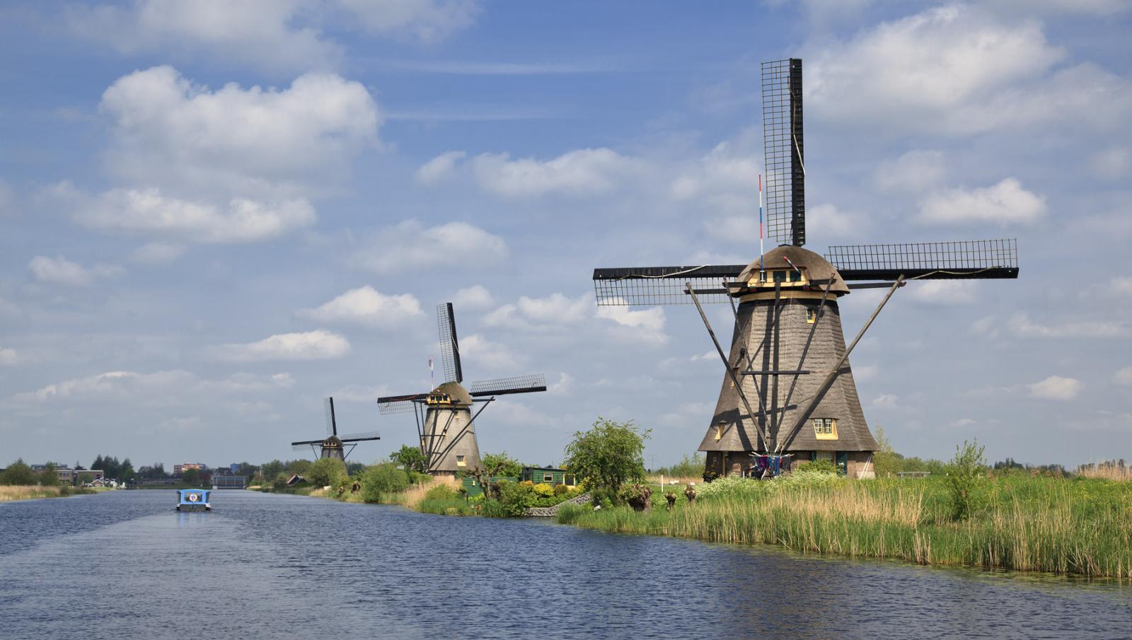 The famous mills at Kinderdijk